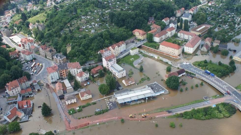 Luftaufnahmen Hochwasser - Meißen