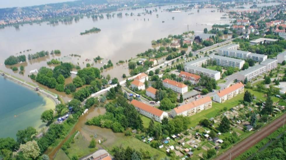 Luftaufnahmen Hochwasser - Dresden
