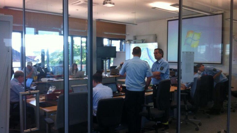Blick in die Zentrale der Feuerwehr (Foto: Redaktion)