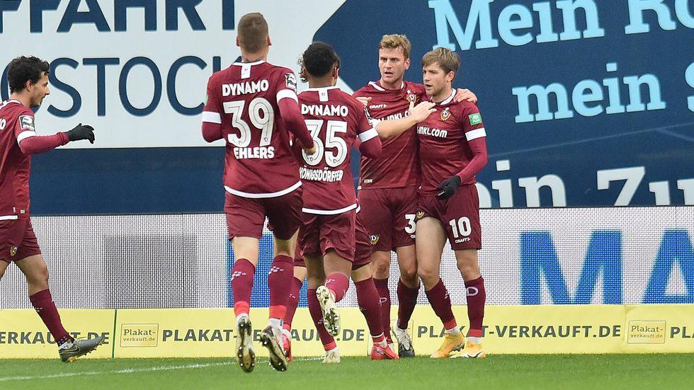 Im letzten Duell in Rostock ging Dynamo mit 3:1 als Sieger vom Platz