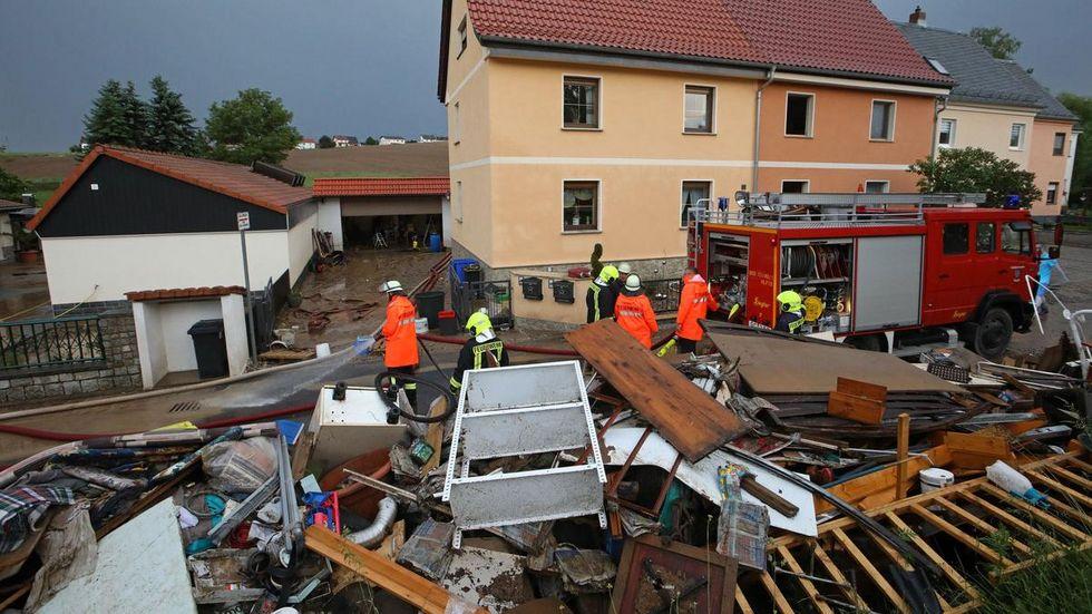 Den Glauchauer Ortsteil Gesau traf es zum zweiten Mal, Betroffene hatten gerade erst ihren Sperrmüll vom letzten Unwetter raus geräumt.