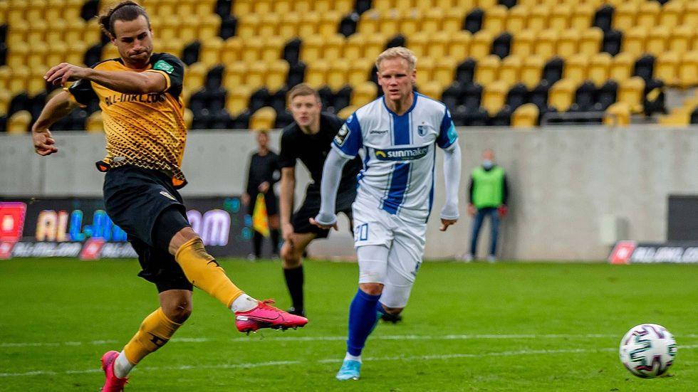 Yannick Stark erzielte das Tor des Tages für Dynamo gegen den 1. FC Magdeburg