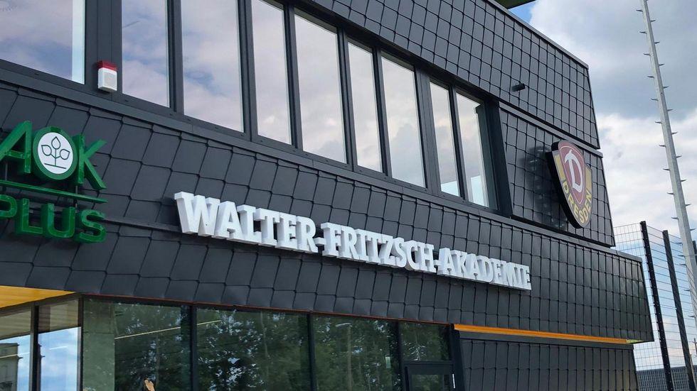 "Das Trainingszentrum wird den Namen ""AOK PLUS Walter-Fritzsch-Akademie"" tragen."