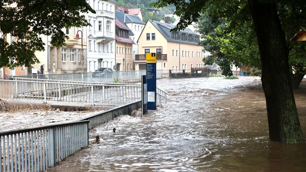 Land unter in Bad Schandau