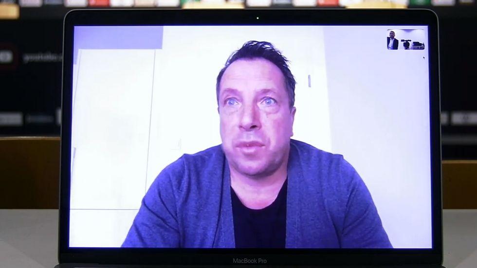 Dynamo-Cheftrainer Markus Kauczinski beim virtuellen Pressegespräch am Freitag.