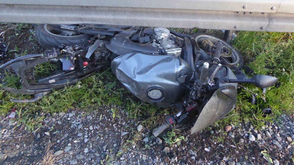 Die Honda des Unfallopfers.