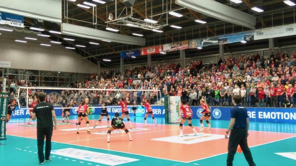 Der DSC feiert einen souveränen Heimsieg gegen Vilsbiburg Foto: (c) Redaktion
