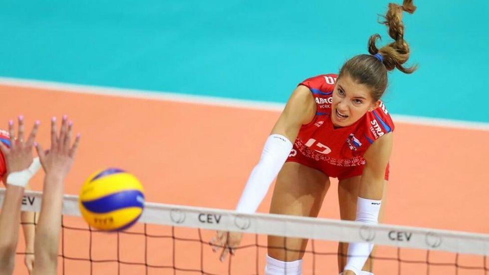 DSC-Neuzugang Nikola Radosová im Trikot der slowakischen Nationalmannschaft.