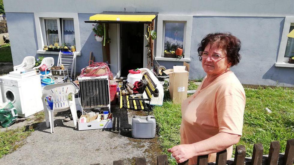 Heike Pohl (63), Neukirch/Lausitz: Das Wasser ist durchmarschiert durch unser Haus.