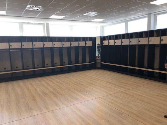 Die Kabine der Dynamo-Profis
