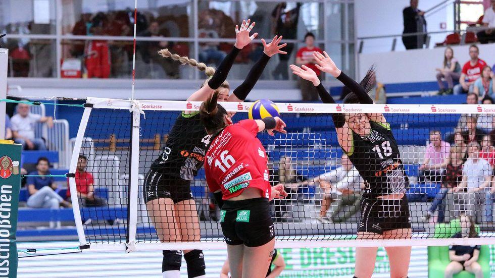 Für Katharina Schwabe und ihr Team gab es heute kein Durchkommen gegen die Ladies in Black.