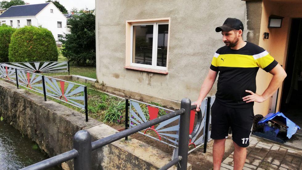 André Thiel, Wilthen: Freunde und Fremde haben uns geholfen.