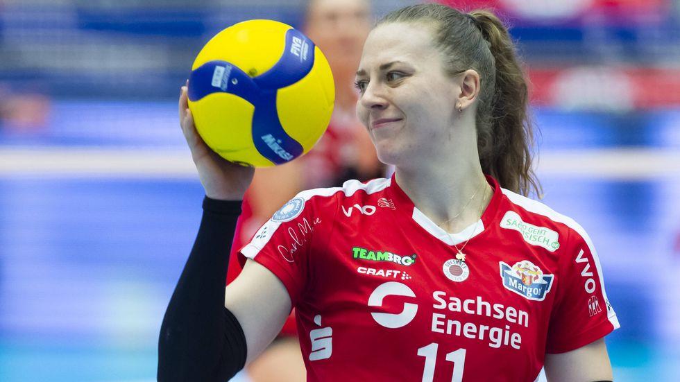 DSC-Spielerin Maja Storck freut sich auf die Halbfinalserie