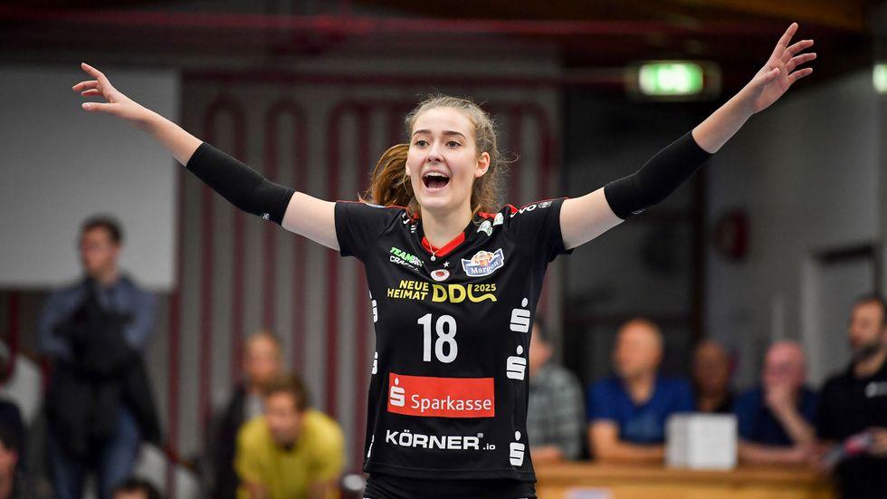 Sarah Straube freut sich über den Sieg in Aachen (Symbolbild)