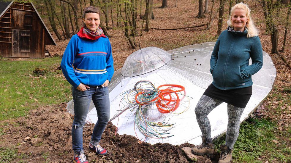 Anne-Kathrin Roßner und Eva Selbmann vom Kulturverein Lochmühle