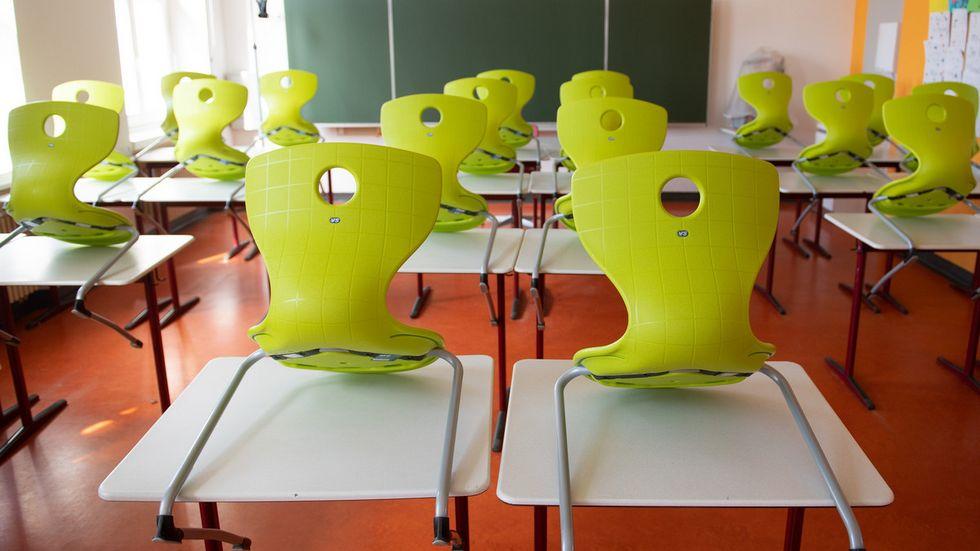 Leeres Klassenzimmer im Gymnasium Bautzen (Archivfoto)