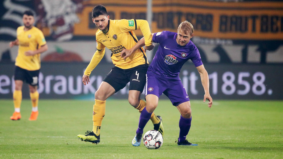 Das Sachsenderby zwischen Dynamo Dresden und Erzgebirge Aue endet 1:1.