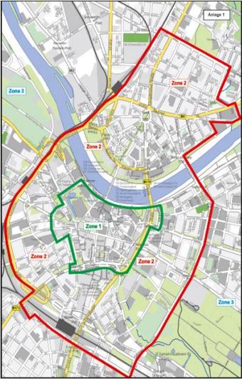 Künftige Parkzonen in Dresden
