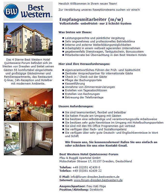 Hotel Best Western Dresden
